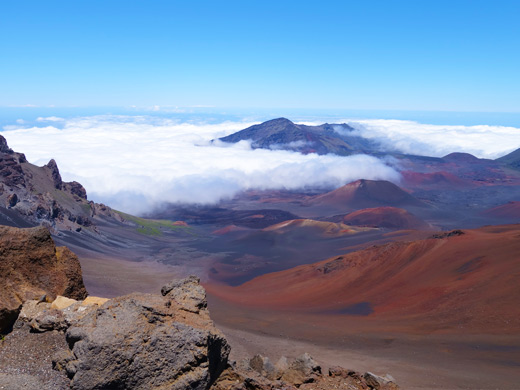 View from Haleakala Volcano